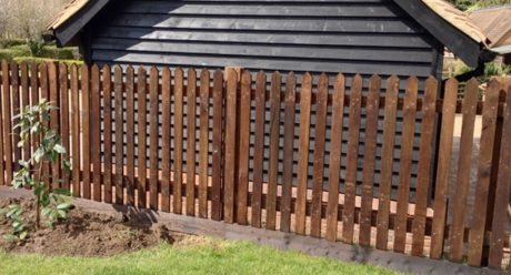 A recent domestic fencing project