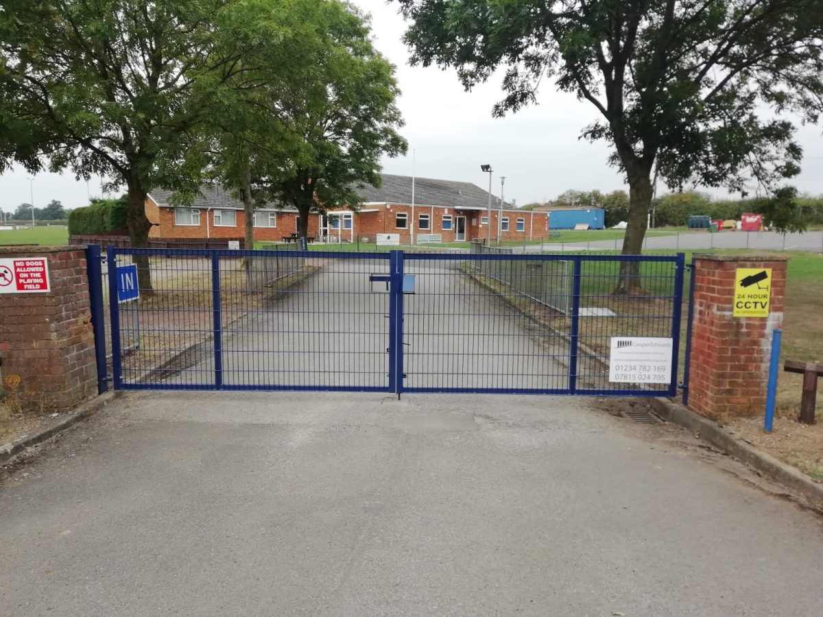 Sports Club Steel Gates Fitted Bedfordshire